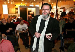 Projektledaren för Destination Bergviken ledde måndagskvällens idémöte i Bergvik.