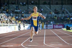 Bollnäs sprinter Joel Groth springer 200 meter och stafett i Tammerfors på lördag.