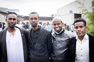 Isak, Mohodin, Mostafa och Adan avslutade årets Ramadan med fest på fredagen.