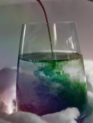 Vacker bild med karamell färgat vatten!