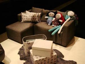 Liten soffa med divan anpassad för barn. Kommer från Eom och beräknas kosta runt 2 500 kronor. BILD: ELISABETH PETTERSSON