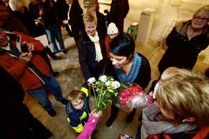 Nina Wennström var av naturliga skäl i centrum denna dag.