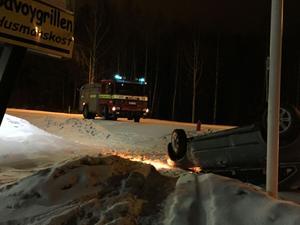 Det hala väglaget var anledningen till olyckan på riksväg 69.