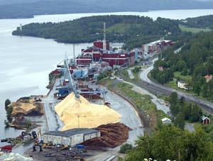 Mondi i Dynäs, en av flera industrier längs länets kust som skulle kunna bli aktuell i projektet. Foto: Erik  Åmell