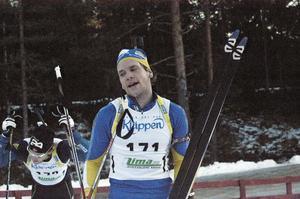 Gabriel Stegmayer åkte in som besviken fyra i söndagens distans. Gladare var Dala-Järnaåkaren förstås över lördagens silver i masstart, fast han ville ha guldet.