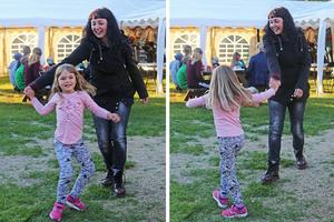 Det var skratt och dans på området även om det var lite glest med besökare på Björnfestens första kväll