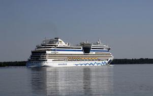 Det är kanske inte det här kryssningsfartyget som kommer till Gävle, men det är i alla fall tyskt och heter Aida.