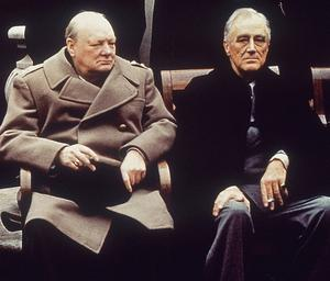 Ute i den stora världen 1943 planerade Churchill och Roosevelt för att få stopp på andra världskriget och förintelsen.