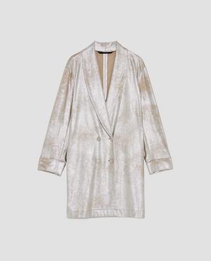 12. Kanye? Jacka med mockaeffekt och metallic, 599 kronor på Zara.