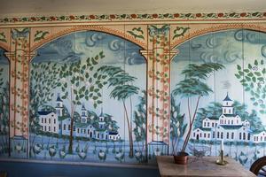 En väggmålning från världsarvet Jon-Lars i Långhed.
