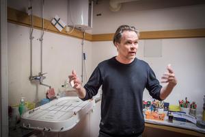 Konstnären och projektledaren Mikael Genberg. Foto: Lennye Osbeck