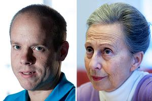 Andreas Sjölander (S) och Jacomina Beertema (M).