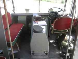 Interiörbilder från Scania-Vabis bussen av årsmodell 1952.