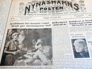 Strejk. NP 8 juli 1955.