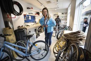 Kopparstadens marknadschef Elke Herbst blåser nytt liv i cyklandet.