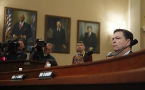FBI Director James Comey vittnar  i  Capitol Hill i Washington.