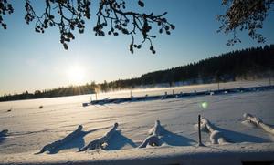 Bilden är tagen för ungefär ett år sedan och visar småbåtshamnen i Fagersta en kall vinterdag.