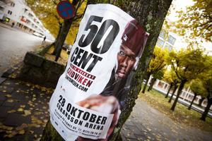 I kväll uppträder 50 Cent i Sandviken.