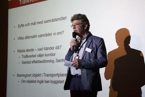 Kenth Nilsson, projektansvarig Trafikverket, berättade tågordningen i projektet.