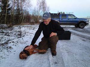 Ulf Eriksson sörjer hunden Smilla.
