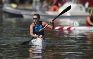 Linnea Stensils är klar för kanotfinal.