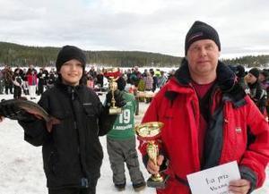 Storåksjöpimpelns vinnare blev i barnklassen Emil Berg och i vuxenklassen Mikael Alfredsson.