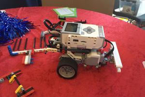 Söråkerslaget Southfield animals deltog i robottävlingen First lego league.
