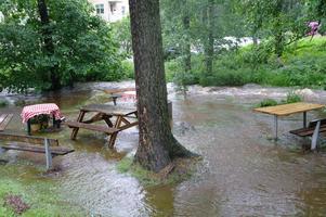 Ö norslund översvämning i bäcken