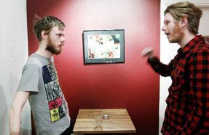 Björn Johnsson och Håkan Borgsten repeterar den inledande monologen i