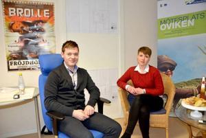Linnéa Andersson, projektledare för Mötesplats Oviken, är förväntansfull nu när projektet är i gång.