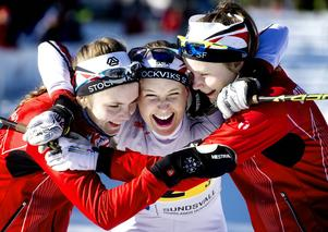 Stockviks damlag tog silver i JSM-stafetten.