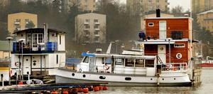 Snart i Västerås? Nu föreslår Centerpartiet att husbåtsfrågan ska utredas. På bilden syns husbåtar i Pampas Marina i Solna 2008.