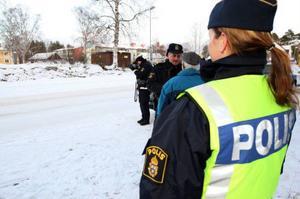 Med hjälp av laser bötfälldes många bilister för brott mot trafikreglementet.Foto: Håkan Degselius