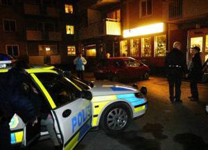 Flera polisbilar var snabbt på plats och kunde förhöra vittnen som sett det inträffade. ingen kunde dock lämna någon bra beskrivning på rånaren.