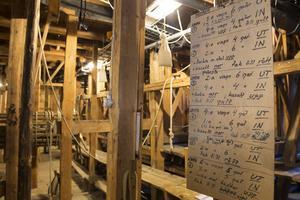Delar av det världsunika och raffinerade scenmaskineriet på Drottningholms Slottsteater.