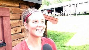 Emelie Forsberg under en intervju tidigare i veckan.