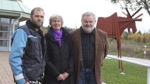 Fredrik Skog (V), Karin Lindström (MP) och Lars Andersson (S) är överens om ett samarbete.
