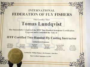 Licensen som instruktör fick han i höstas.