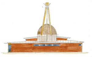 Moskén ska ligga vid en talldunge i övre delen av Stadsdel norr, med en ny infart från Litsvägen