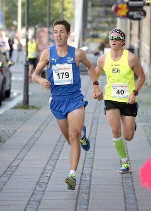 Ettan och tvåan i loppet. Jan Westerberg och Eddie Edström.