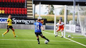 Frida Sjöberg gjorde sin första match från start i sin nygamla klubb.