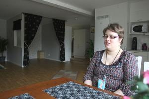 En etta med sovalkov. Nu är det bara sängen som fattas och Yvette Edh längtar till den dag då hon ska sova i sin nya lägenhet.
