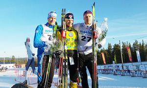 Jens Eriksson, Dala-Floda, vann med 45 sekunders marginal före Daniel Richardsson, Hudiksvall. Jesper modin, Piteå, kom på en tredje plats.