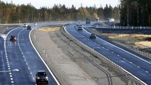 Från invigningen av sträckan Sagån–Enköping 25 oktober 2010.