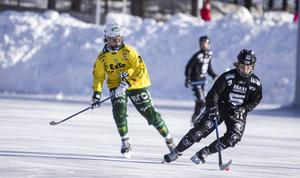 Ljusdals Henrik Cervin bjöd på konster på IP – men drog också på sig ett matchstraff i slutet av den första halvleken mot Sandviken.