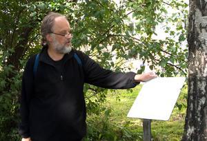 Svante Junker i Badhusparken, där Kacklan hängde tvätt i
