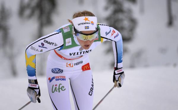 Stina Nilsson slutade nia i loppet.