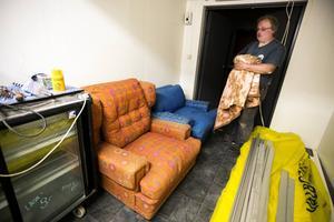 Allt i huset går i 50-talsstil. De här möblerna, som användes vid Hylands Hörna en gång i tiden, hittade Stefan Hagman i en sommarstuga i Njurunda.