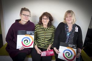 Karin Kvam, konstkonsulent på Länskulturen, Ellen Hyttsten, ordförande Sveriges Konstföreningar distriktet Jämtland-Härjedalen och Jeanette Wahl, som är med i samverkansgruppen för Konstens vecka.