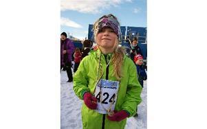 Sofia Sterner, nio år, tror att hon kommer tillbaka nästa år igen. Foto: Jennie-Lie Kjörnsberg